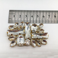2020 New Design acrylic stone gold plating Shoes Buckle Shoes Accessories clip