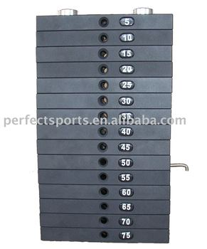 Weight lifting Plates stack