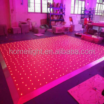 Wedding Party Fase RGB Acrilico Pannello LED Starlit Dance Floor Tile