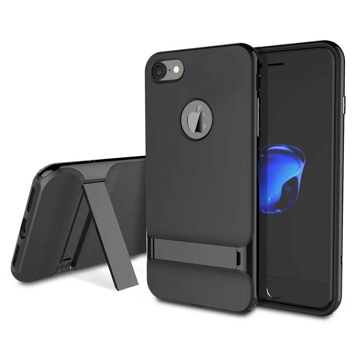 30d9eb478f6 Get Quotations · iPhone 7 Case, Anti-scratch Protection Ultra Thin Fit Dual  Layered Heavy Duty Hybrid
