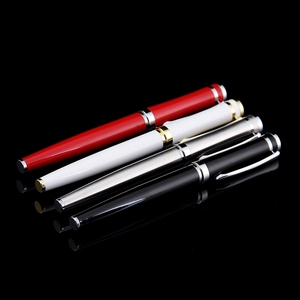 2018 promotion and gift business pen for men customizing metal black/silver/red/white gel ink pen roller pen with logo