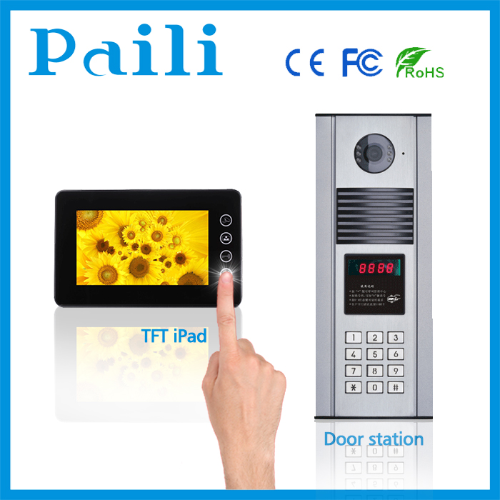 Video door phone video entry intercom for apartment internal intercom system