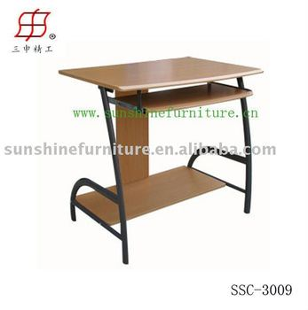 Bon Simple Steel Wooden Computer Table Desk Model