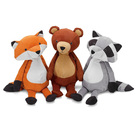 New fabric materials Made Forest best three friends Fox Bear and Raccoon soft toys