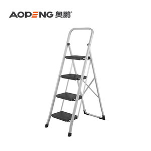 TUV/GS Iron Step stool ladder with handrail
