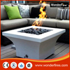 Square Magnesia outdoor Gas Fire Pit/outdoor fire pits