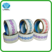full color custom self adhesive small round plastic seal sticker, waterproof adhesive sticker, vinyl roll sticker