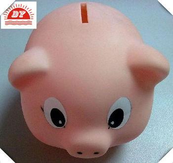 Pink Piggy Bank Kids Plastic Banks For