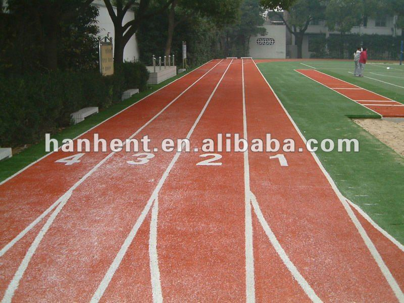 Playground running track synthetic grass
