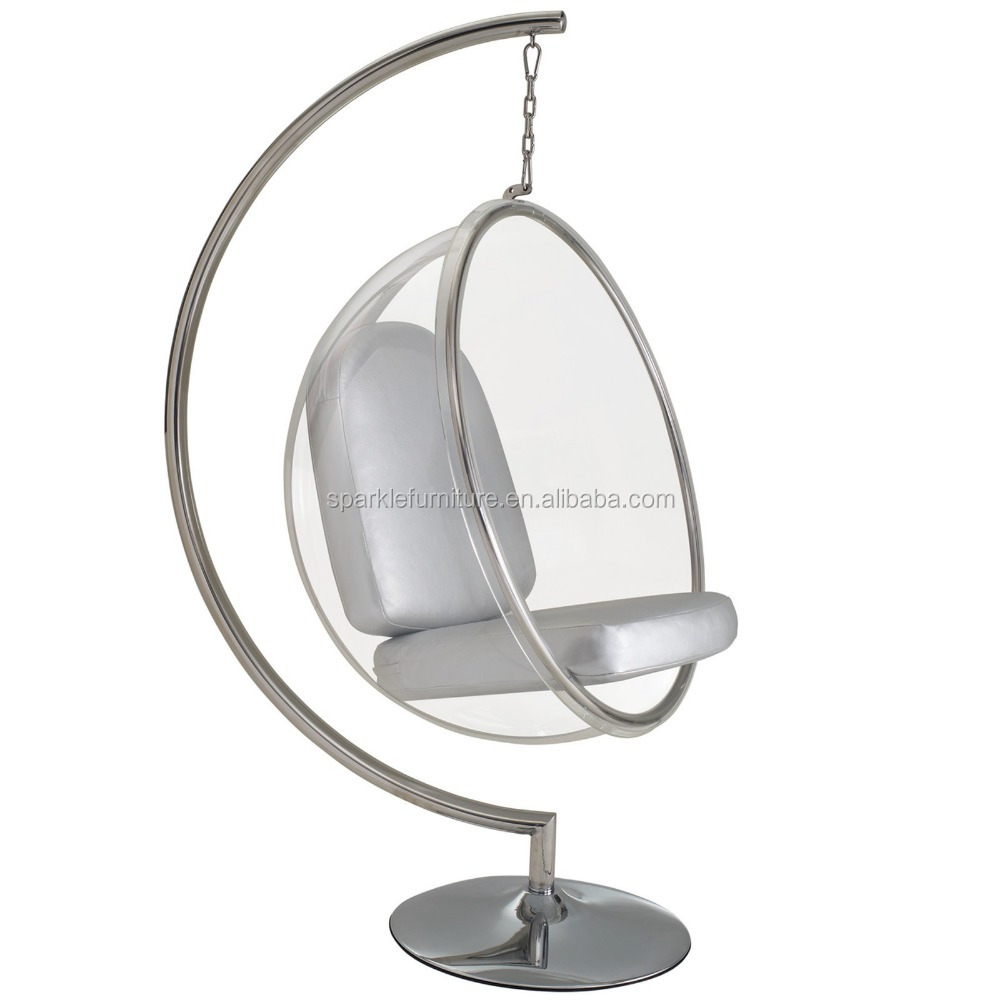 Captivating Triumph Acrylic Hanging Bubble Chair, Clear Ball Chair, Retro Design Chair