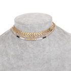 Fashion Charm Gold Beads Arrow Multi-layer Necklace Christmas Jewelry