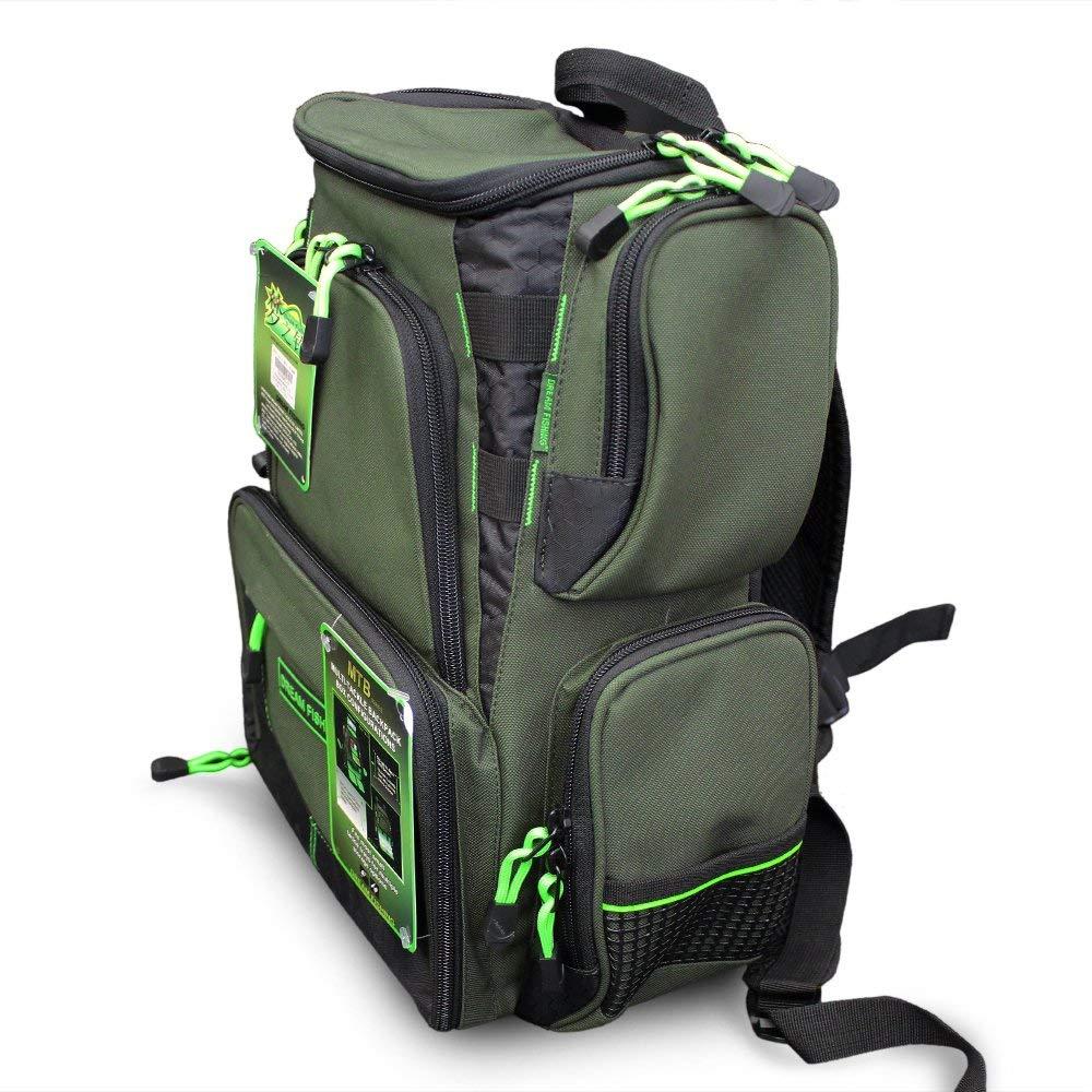 Lixada Large Fishing Tackle Backpack Outdoor Gear Bag Fishing Bait Bag Compact Tackle Backpack with 4 Fishing Bait Box