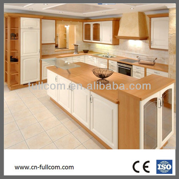 Hot Press White Pvc Kitchen Cabinet Doors Used In European Style