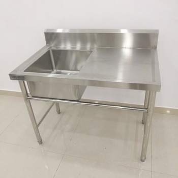 Freestanding Stainless Steel Kitchen Fish Cleaning Table