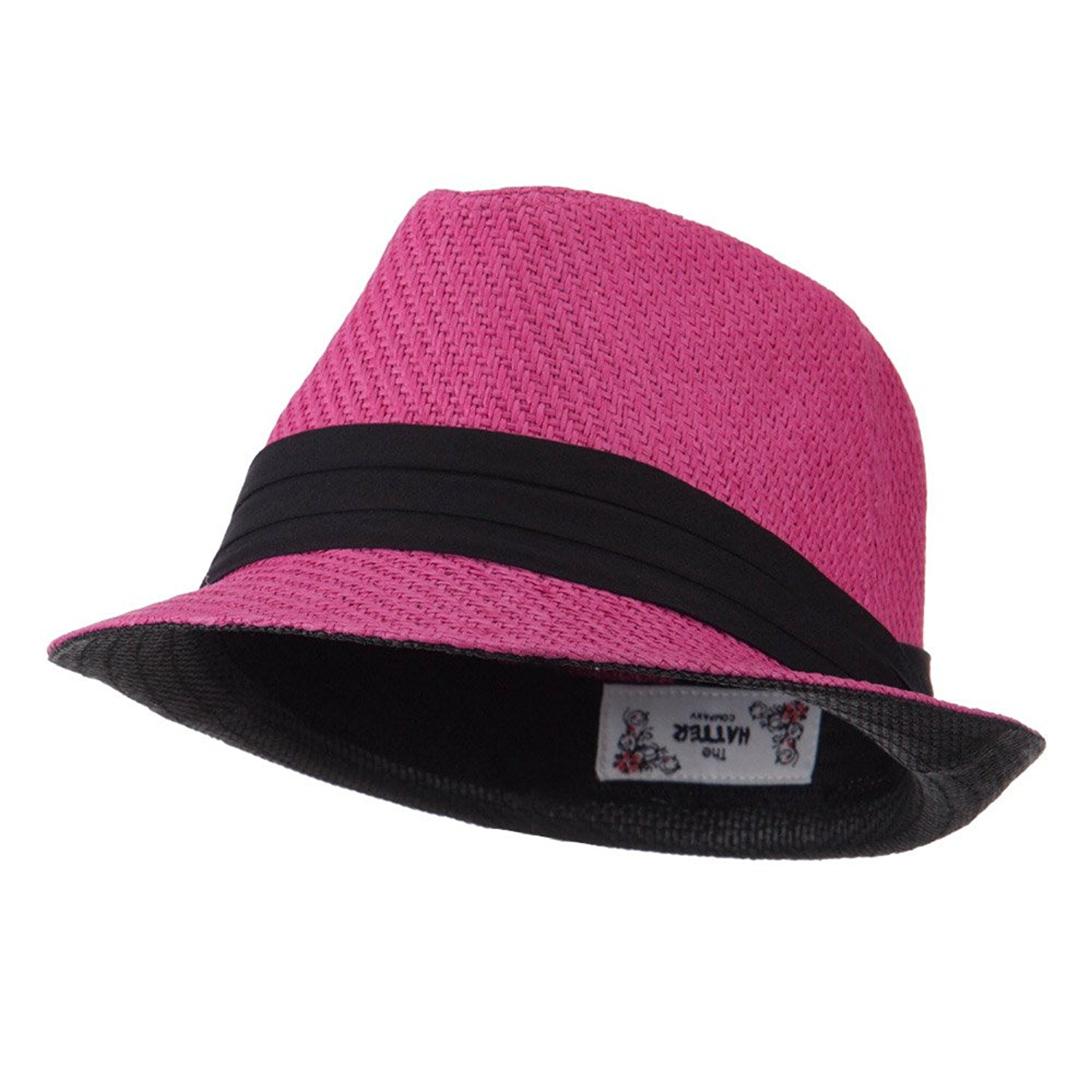 65f9be382b6 Get Quotations · Toyo Straw Fedora Hat with Black Band - OSFM