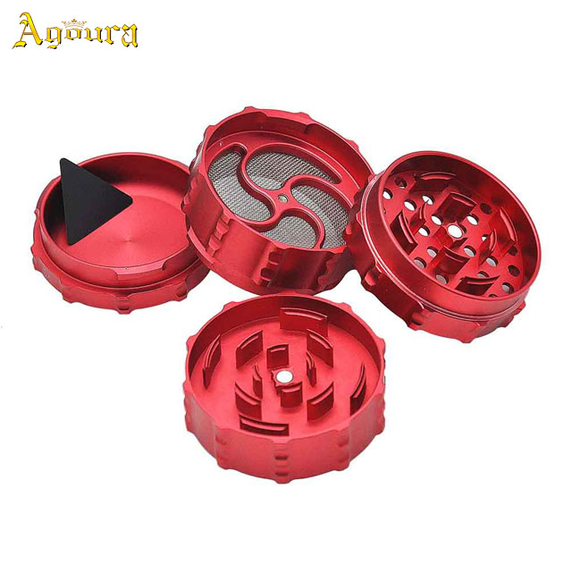 45mm diameter zinc alloy grinding machine four-layers gear herb grinder tobacco crusher