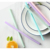 6/12pcs Reusable Silicone Food Grade Drinking Straws with Cleaning Brushes Set