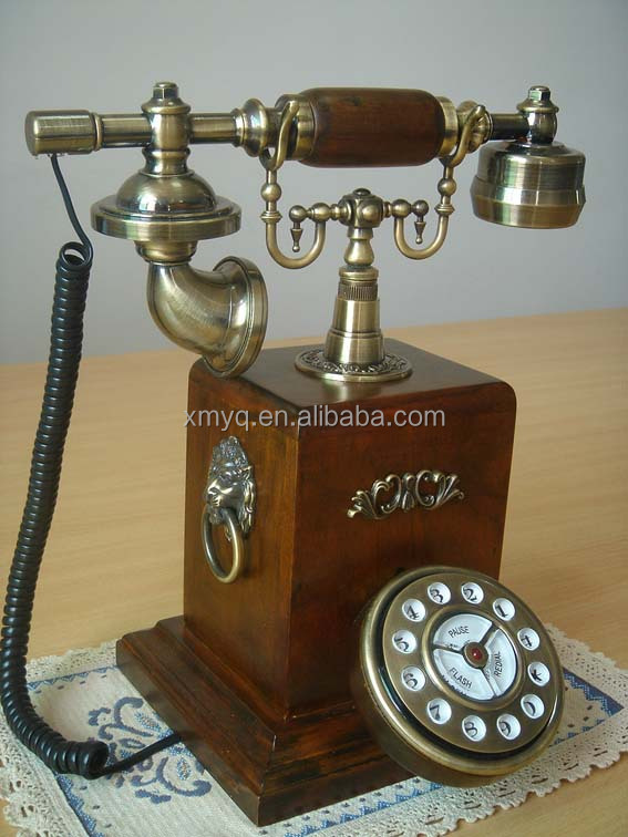 Retro Vintage Reproduction Desk Phone Antique Corded Telephone For Old  People - Retro Vintage Reproduction Desk Phone Antique Corded Telephone For