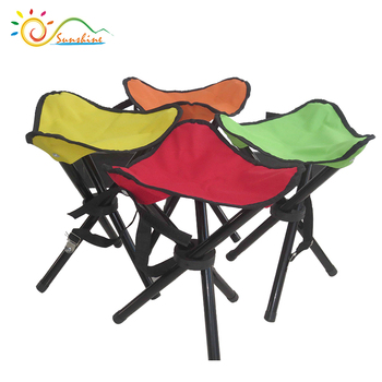 Backpack Folding Stool Aluminum Four Footstool Portable Foldable Camping