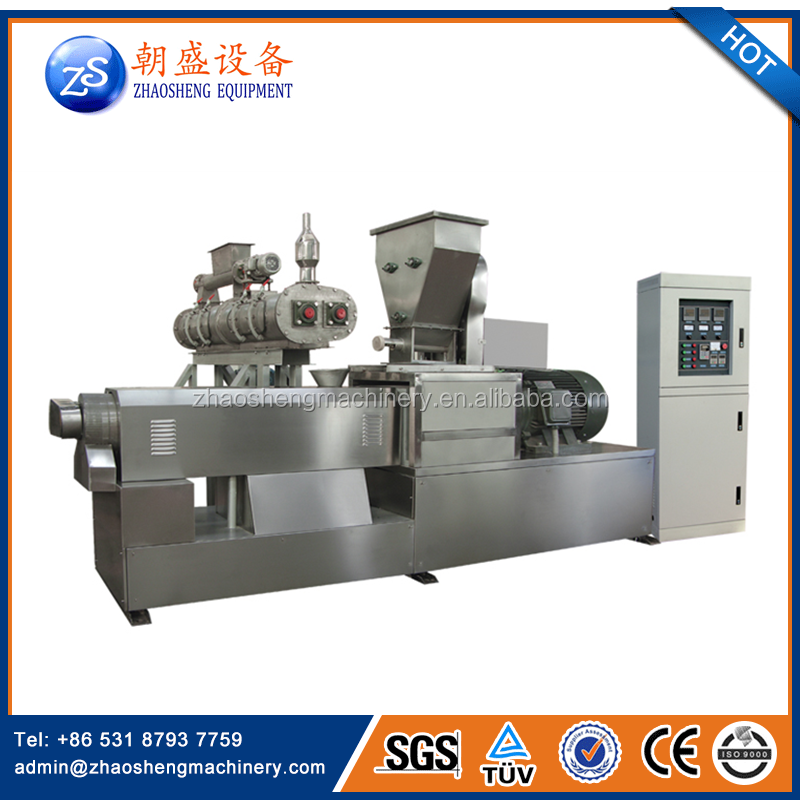 Extruded crispy corn flakes and breakfast cereal production line from Jinan ZS machinery company