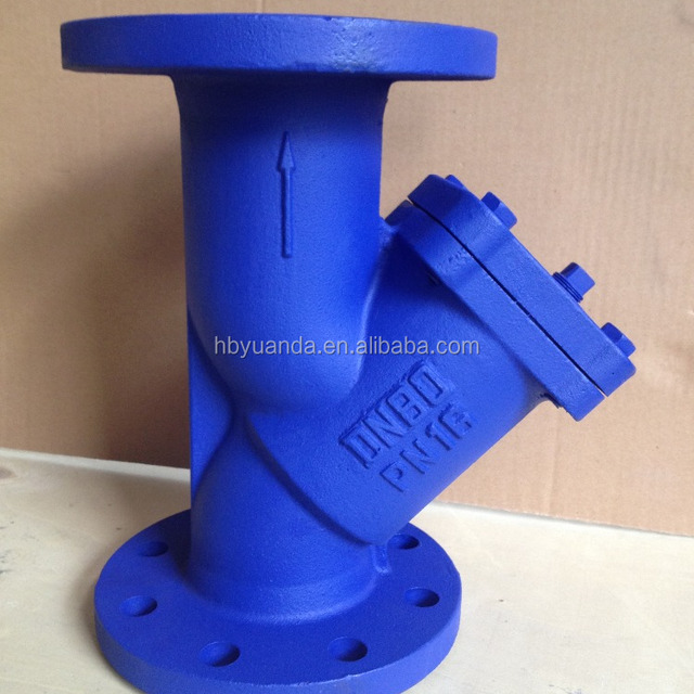 din filter y strainer flange end 304 screen cast iron body/gg25/ggg40