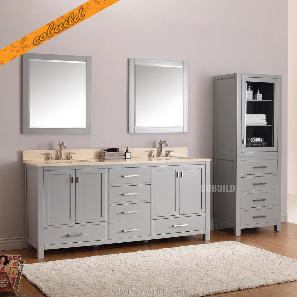 tah002 modern free standing double sink solid wood bathroom vanity with countertop