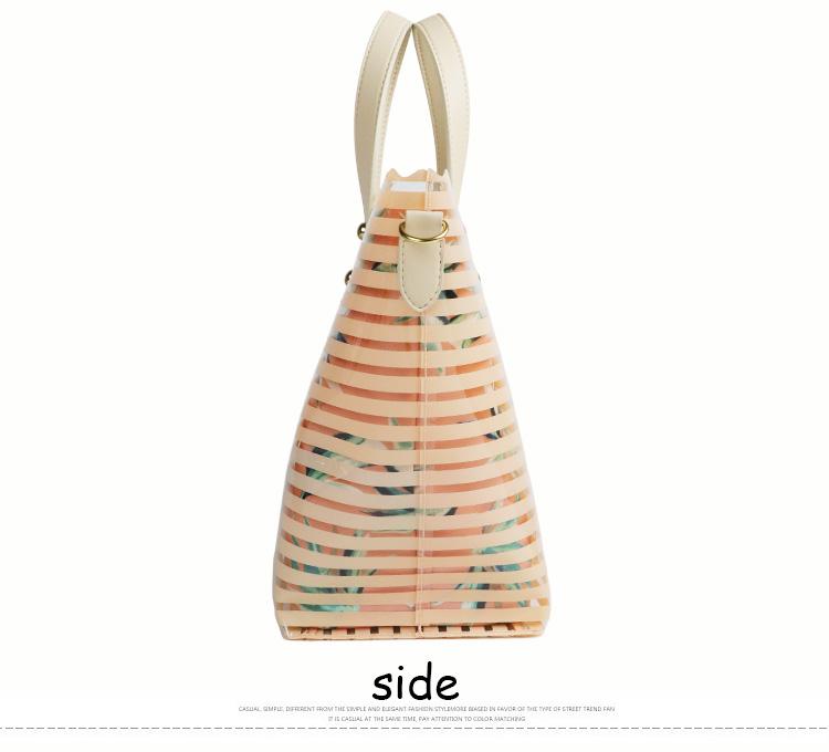 2018 Bag manufacturer handbags ladies canvas plastic pvc beach bag waterproof
