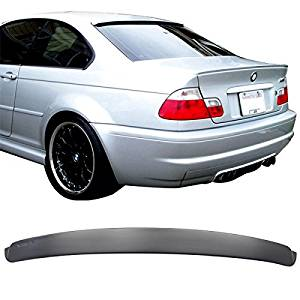 99-05 BMW E46 3-Series M3 Coupe 2Dr 2Door Unpainted ABS AC Rear Roof Spoiler