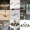 New! Modern Candle Light Chandelier Glass Chandelier Kitchen Pendant Lamp Oval Chandelier
