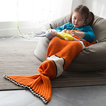 animal shaped sleeping bag Nemo mermaid tail blanket knitted blanket