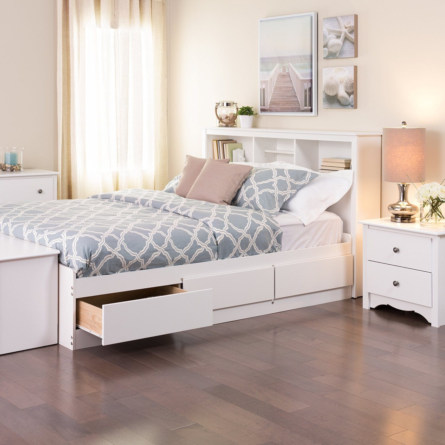 size gray storage full the bed bedroom black platform with mattress padded panel leather drawer drawers under queen spacious beds of frame upholstered