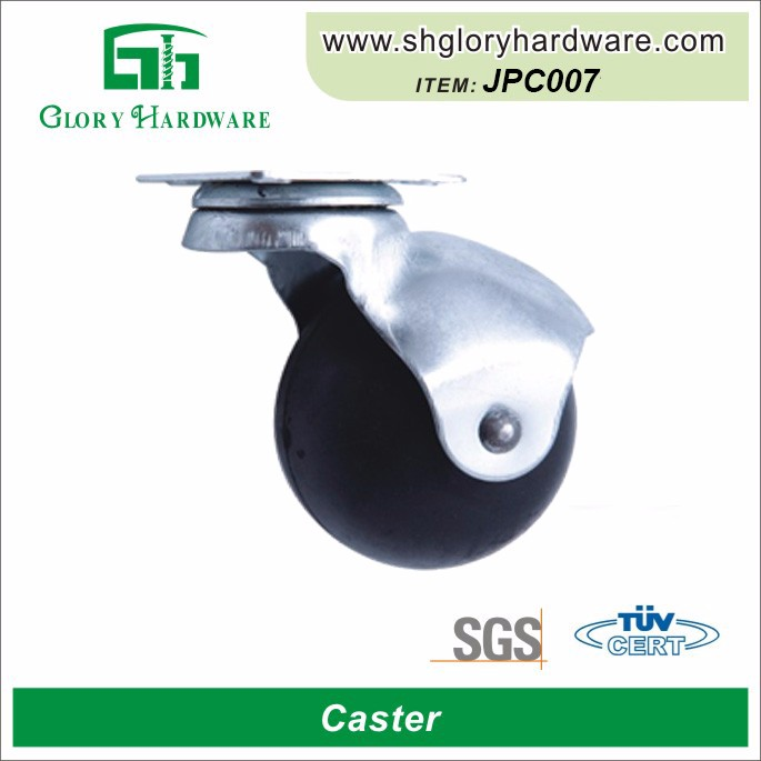 Decorative Nylon Durable Small High Performance Swivel Rubber Wheel Square Furniture Caster Cup