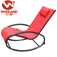Outdoor cheap glider rocking chair with metal frame