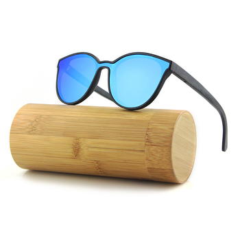 a1885bb27c 2019 espejo lente polarizada negro Material de bambú gafas de sol de madera  UV400