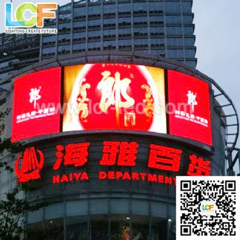 Ph10 outdoor LED vido wall p10 led display screen outdoor advertising for fixed installation