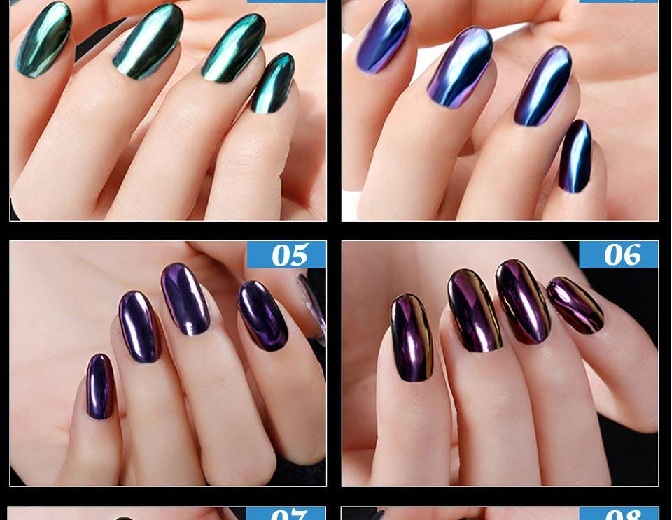 Lilyangel Nail Art Mirror effect Chrome powder Magic Color Changing ...