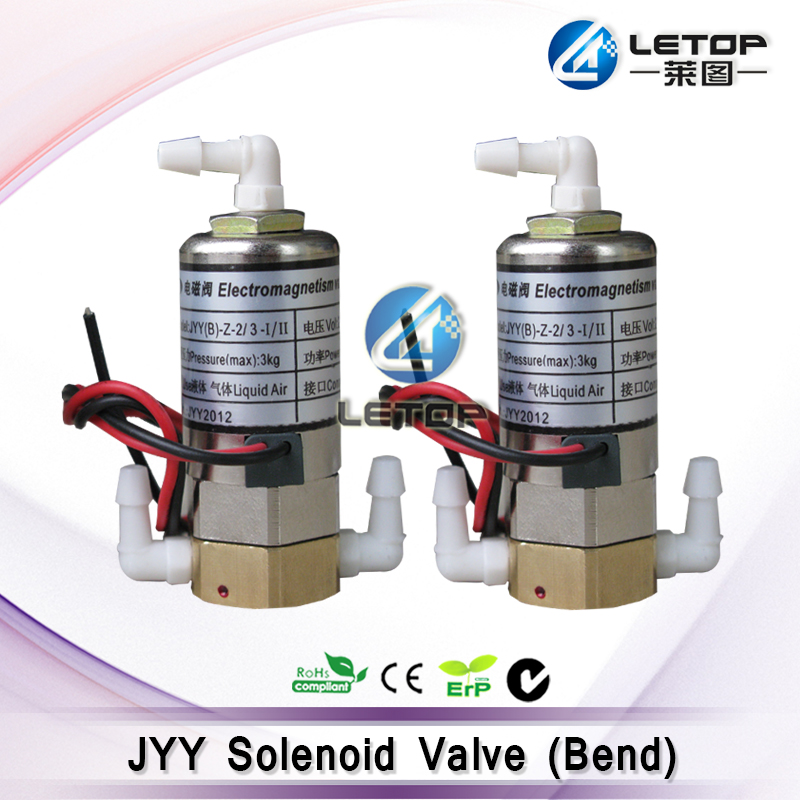 Original!!JYY bend head 24v dc 3 way solenoid valve for outdoor printer