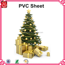 rigid plastic PVC sheet for making Christmas tree rigid pvc film