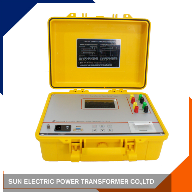 Portable Turns Ratio Tester ttr power transformer turn ratio tester