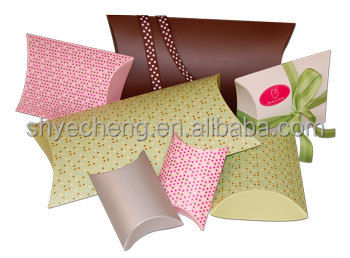 high quality fashionable cardboard custom printed pillow paper box manufacturer