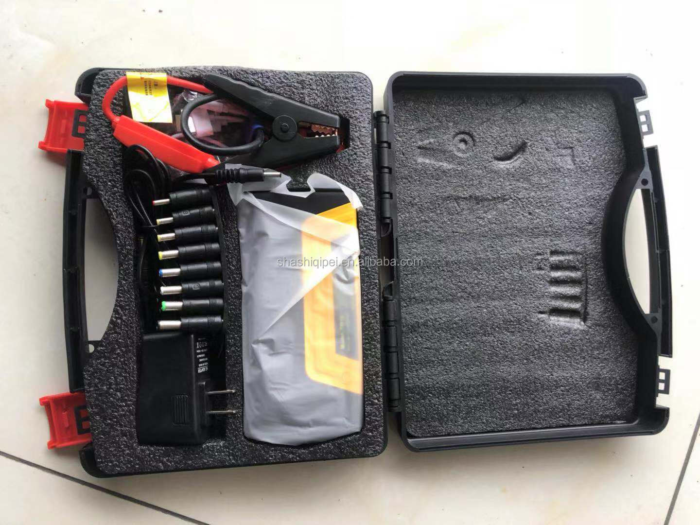 15000mAh Multifunction Fast Charge Lithium Car Jump Starter with Air Compressor and LCD Screen Portable