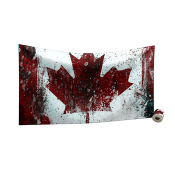 Custom Canada flag printed 47 inches X 25 inches quick drying Soft  Micro-Fiber sports