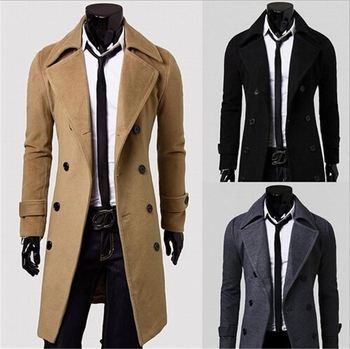 de734ddd359 walson Men Winter Jacket Fashion Mens Winter Trench Coats Overcoats Duffle  Coat