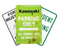 customize embossed aluminum parking only sign ,wall sign