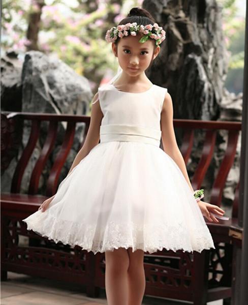 Vestidos de fiesta blanco para nena