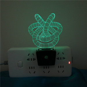 Custom Kids 3D Plug Lamp In Wall Switch Led Small Night Lamp