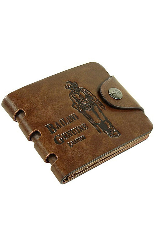Get Quotations · Bailini Men s Medium buckle Faux Leather Wallet Bifold  Purse fe95e95d8f1