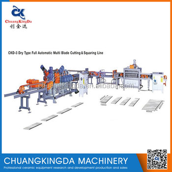 CKD-3 Full Automatic Dry type Multi-Blade Cutting & squaring and chamfering machine with ceramic tile/grinding machinery