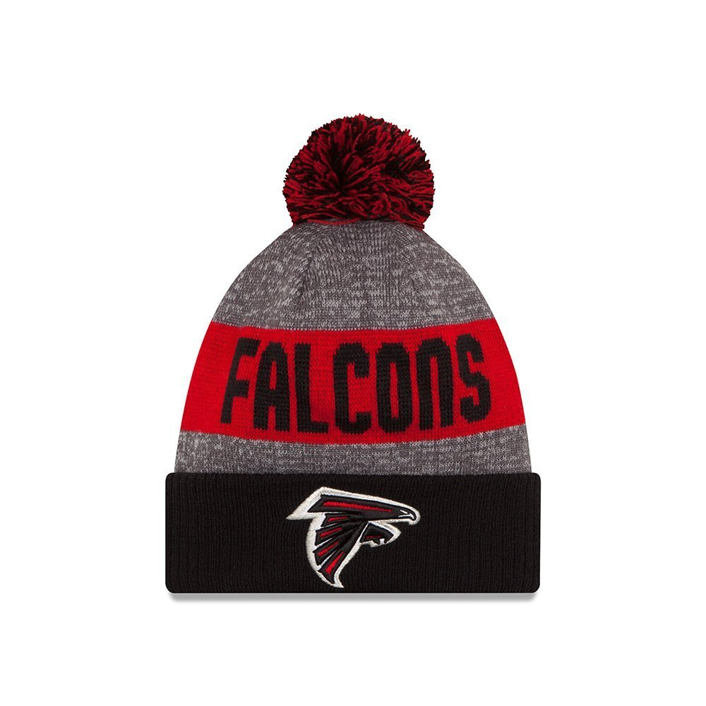 Get Quotations · New Era Knit Atlanta Falcons Red On Field Sideline Sport  Knit Winter Stocking Beanie Pom Hat 679567a5d364