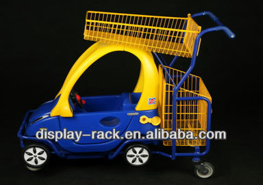 Cartoon plastic supermarket trolleys for babies HSX-1024